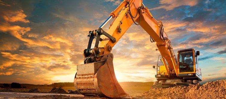 Excavadora en obra